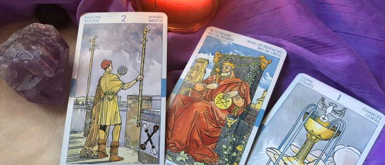 Pentakels uitleg (14 tarotkaarten) + dagkaart trekken